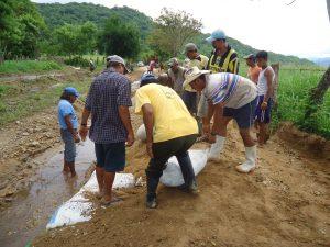 Afectaciones en Paso de la Reyna  en la región de la Costa de Oaxaca