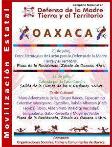Cartel Final Movilización Oaxaca