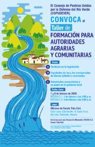 Taller de formación para autoridades agrarias y comunitarias
